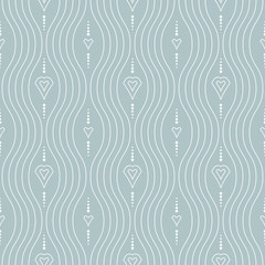 Seamless vector ornament. Modern light blue and white background. Geometric modern pattern