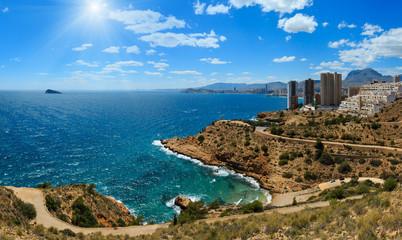 Poster Cote Sunshiny Benidorm coast (Spain).