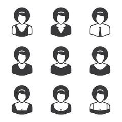 Set of avatars icons - women