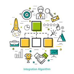 Line Art Concept - Integration Algorithm