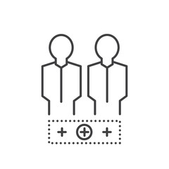 Team BUSINESS Line Icon Style
