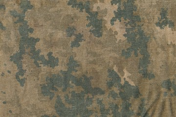 Pattern of grunge camouflage cloth