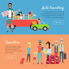 Auto Traveling and Travelers Banners