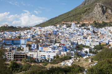 Panoramic View of Morocco's Blue City Chefchaouen