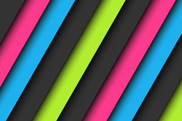 Abstract background in neon colors, wallpaper with pink, blue, green and gray oblique lines, vector illustration