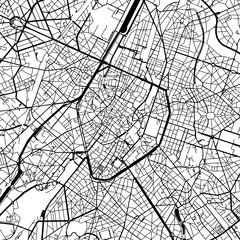 Brussels Belgium Vector Map