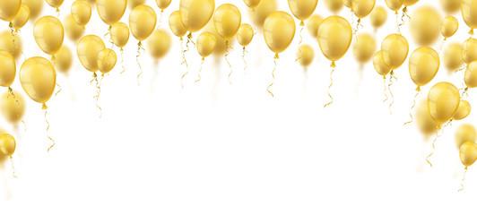 Golden Balloons White Cover Header