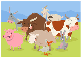 cute farm animal characters