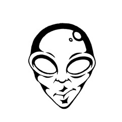Vectorized Ink Sketch of an Alien Face