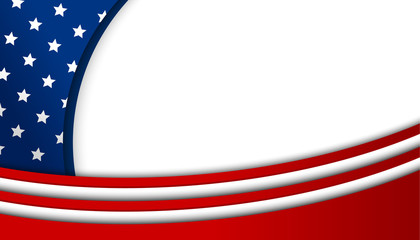 USA background design on white background