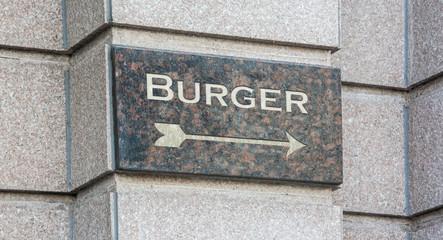Schild 204 - Burger