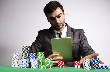 Serious professional online poker player