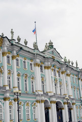 Architecture of Saint-Petersburg, Russia. Hermitage (Winter Palace) museum