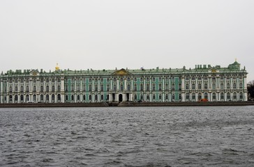 Architecture of Saint-Petersburg, Russia. Hermitage museum.