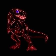 Tyrannosaurus Rex dinosaur pattern black background