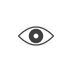 Eye icon vector, filled flat sign, solid pictogram isolated on white. Symbol, logo illustration. Pixel perfect