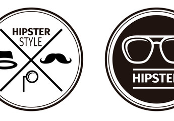 A Set of Four Stylish Circular Logos 1