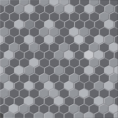 Abstract hexagonal pattern background with gray color