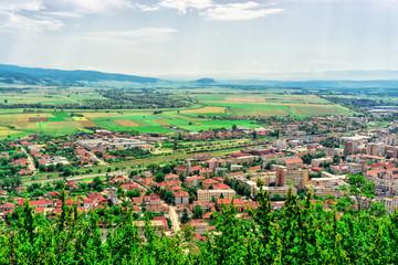View with Deva city