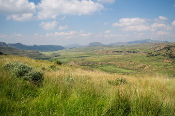 Mountain Landscape in Golden Gate Highlands National Park in South Africa's Freestate