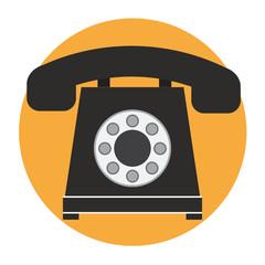 Icône de téléphone fixe - Vecteur - Illustration