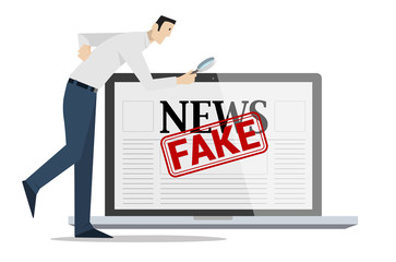 Checking Fake News Concept.