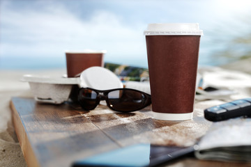 coffee cup and summer time