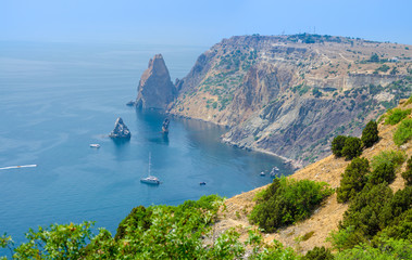 Panorama landscape of Fiolent Cape, Crimea