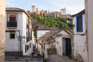 View of the Alhambra in Granada from Albaicín