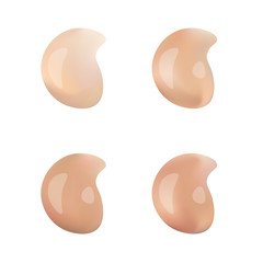 Color Shades Palette For Foundation Make Up. Isolated On White Background.