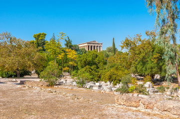 The archaeological site of Athens