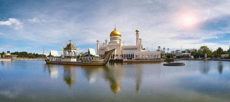 Bandar Seri Begawan,Brunei Darussalam/MARCH 31,2017: Sultan Omar Ali Saifuddin Mosque