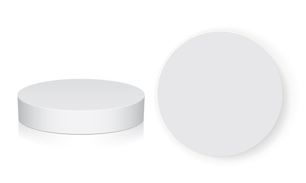 Round box for your design and logo. Easy to change colors. Mock Up Vector EPS10