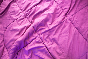 pink crumpled blanket background