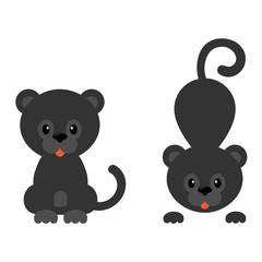 cartoon panther set