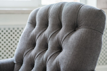 Photo texture of the sofa upholstery close-up.