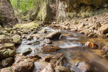 water stream and stone
