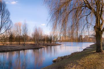 Spring urban landscape Minsk Belarus
