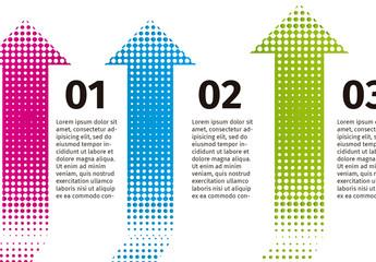 Horizontal Multicolored Arrow Infographic