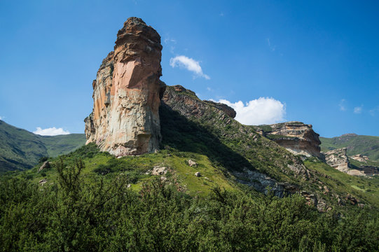 Rock Face, Cliff in Golden Gate Highlands National Park in South Africa's Freestate