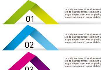 Multicolor Folded Ribbon Infographic
