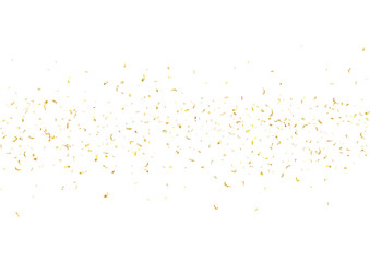 Abstract background with flying subtle golden confetti.