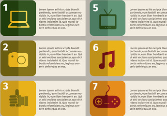 Numbered Entertainment Infographic