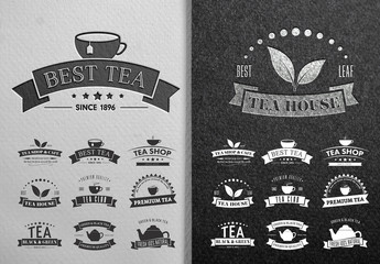9 Tea Logo Layouts