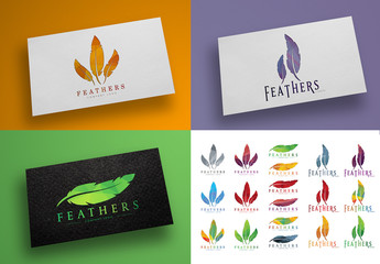Feather Logo Layout