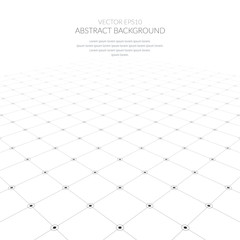 Obraz Abstract background with a grid of geometric elements. - fototapety do salonu