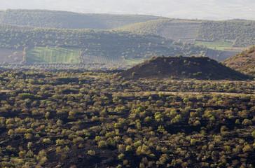 Kaplan volcanic cone Geological Park Manisa Turkey