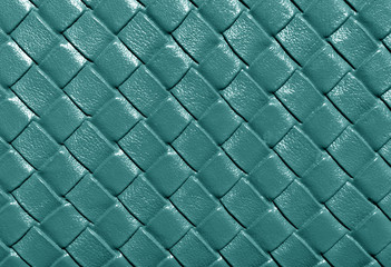 Cyan color leather pattern.