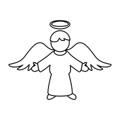 Holy spiritual angel icon vector illustration graphic design