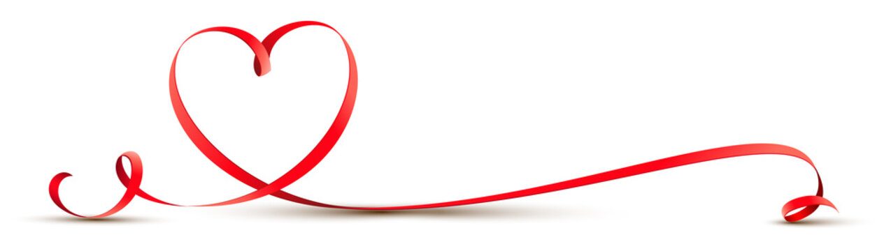 Geschwungenes Herz Band - Schleife